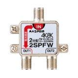 マスプロ電工 2SPFW 2分配器 1端子電流通過型 双方向・VU・BS・CS 3224MHz 4K8K対応 [£]