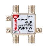 マスプロ電工 3SPFW 3分配器 1端子電流通過型 双方向・VU・BS・CS 3224MHz 4K8K対応 [£]