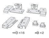 パナソニック 【下部収納設置用部品セット】 ディープタイプ食器洗い乾燥機設置用 ANP1701-8350、ANP1702-8350、ANP341-8350、ANP348-8350、ANP348-4590(2個)、VXGAXW401SJ(2個)、XTB4+14FJX または XTB4+14AFJ(16本)、ANP9947-9730 [■]