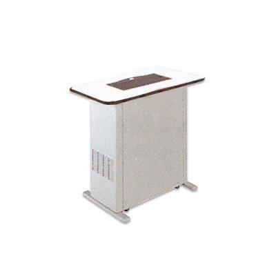 画像1: 三菱 喫煙用集塵/脱臭機(分煙機)・スモークダッシュ・フラットカウンター・テーブル寸法120cm×60cm・色ホワイト(BS-FC13D+BT-F60D-W) [♪■]